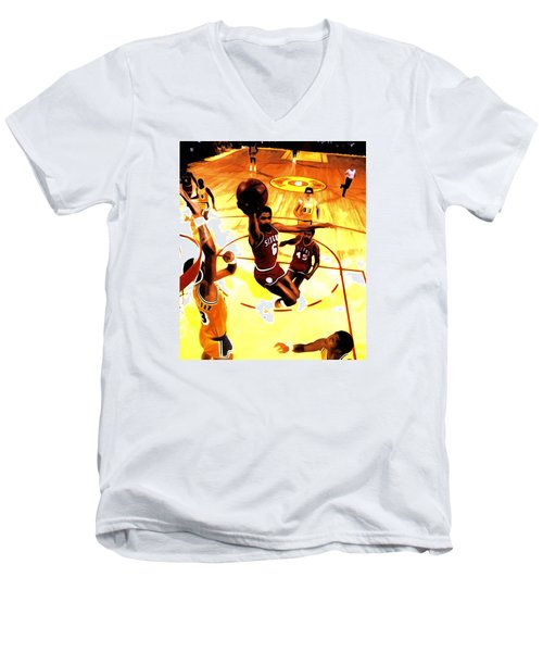 Doctor J Men's V-Neck T-Shirt by Brian Reaves