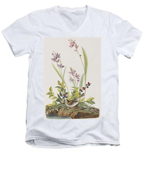 Field Sparrow Men's V-Neck T-Shirt by John James Audubon