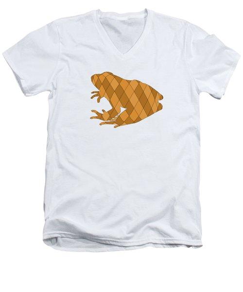 Frog Men's V-Neck T-Shirt by Mordax Furittus