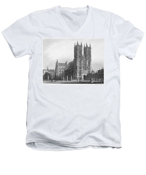 London: Westminster Abbey Men's V-Neck T-Shirt by Granger