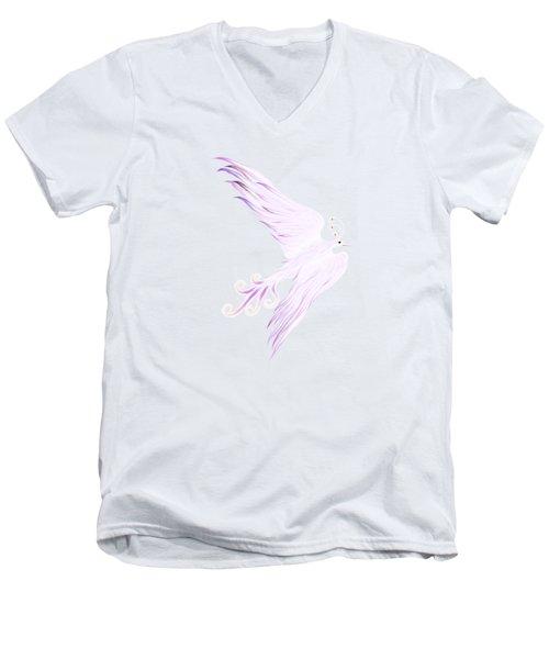 Magical Phoenix Bird Artistic Design Men's V-Neck T-Shirt by Awen Fine Art Prints