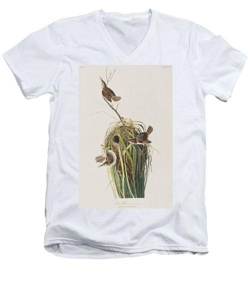 Marsh Wren  Men's V-Neck T-Shirt by John James Audubon
