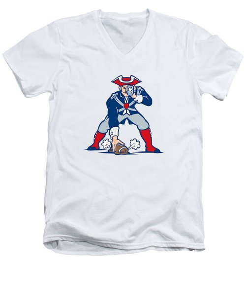 New England Patriots Parody Men's V-Neck T-Shirt by Joe Hamilton