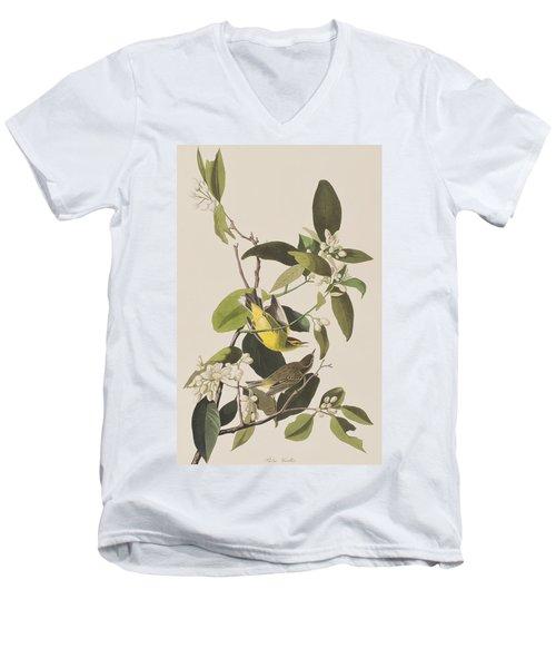 Palm Warbler Men's V-Neck T-Shirt by John James Audubon