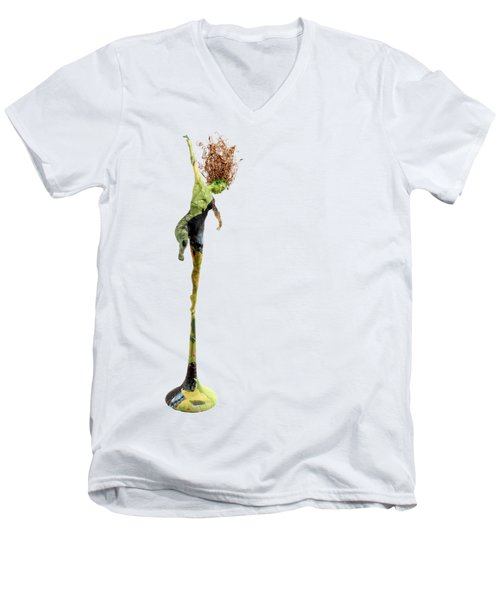 Spread Wings Men's V-Neck T-Shirt by Adam Long