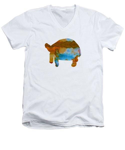 Tortoise Men's V-Neck T-Shirt by Mordax Furittus