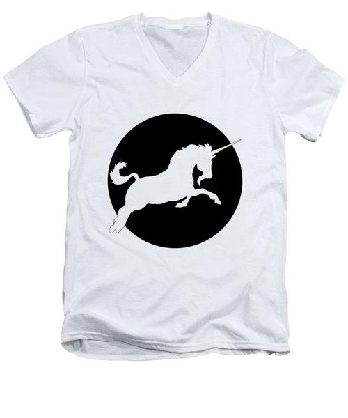 Unicorn Men's V-Neck T-Shirt by Mordax Furittus