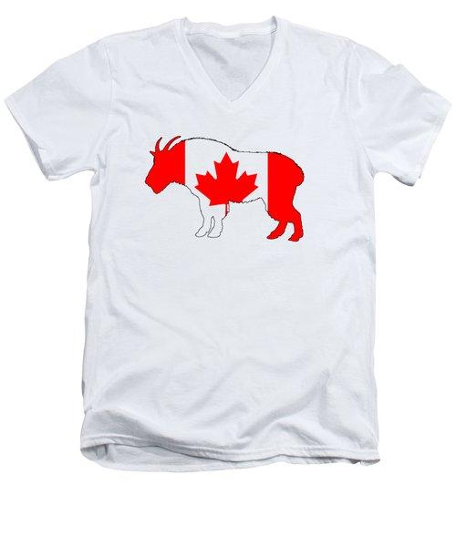 Wild Goat Men's V-Neck T-Shirt by Mordax Furittus
