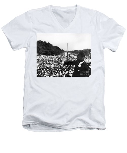 Martin Luther King, Jr Men's V-Neck T-Shirt by Granger