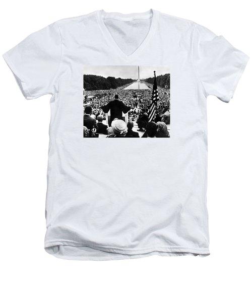 Martin Luther King Jr Men's V-Neck T-Shirt by American School
