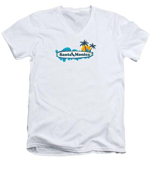 Santa Monica Men's V-Neck T-Shirt by American Roadside