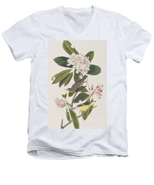 Canada Warbler Men's V-Neck T-Shirt by John James Audubon
