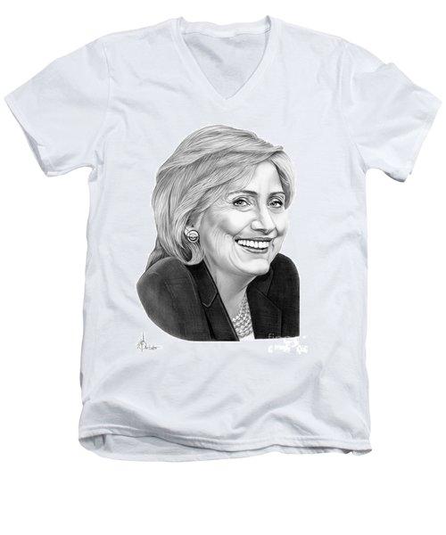 Hillary Clinton Men's V-Neck T-Shirt by Murphy Elliott