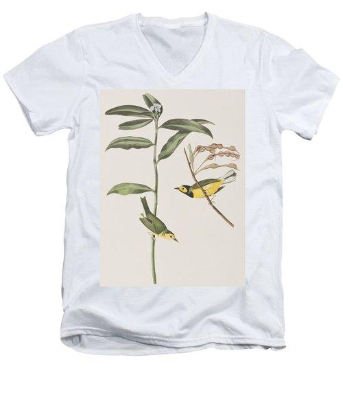 Hooded Warbler  Men's V-Neck T-Shirt by John James Audubon