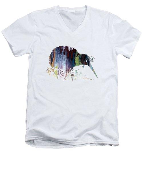 Kiwi Bird Men's V-Neck T-Shirt by Mordax Furittus