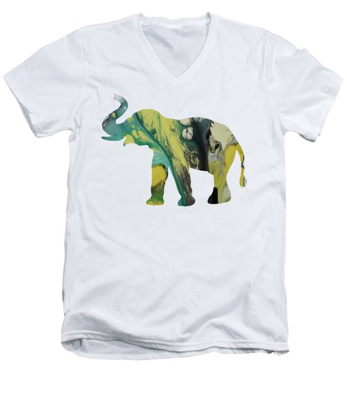 Elephant Men's V-Neck T-Shirt by Mordax Furittus