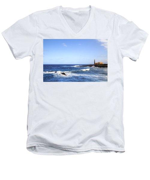 Tenerife - Garachico  Men's V-Neck T-Shirt by Joana Kruse