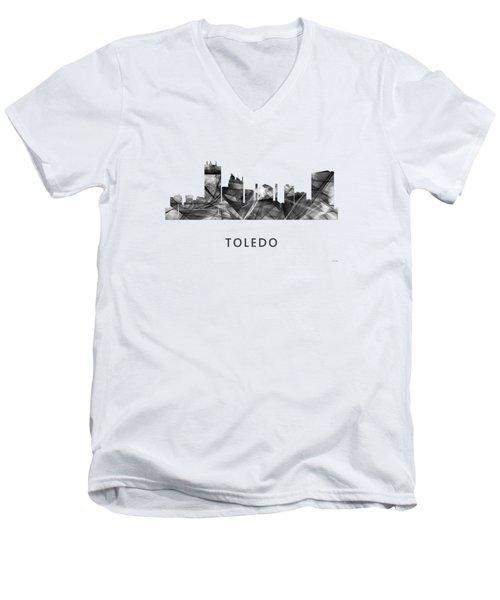 Toledo Ohio Skyline Men's V-Neck T-Shirt by Marlene Watson