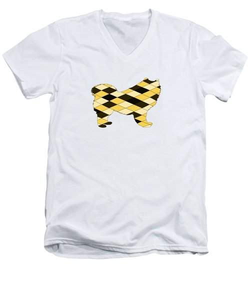 Samoyed Men's V-Neck T-Shirt by Mordax Furittus