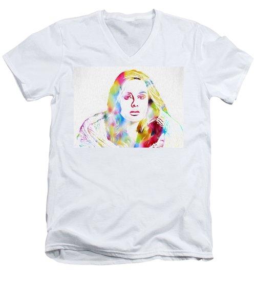 Adele Men's V-Neck T-Shirt by Dan Sproul