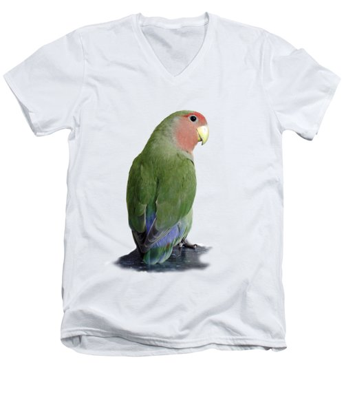 Adorable Pickle On A Transparent Background Men's V-Neck T-Shirt by Terri Waters