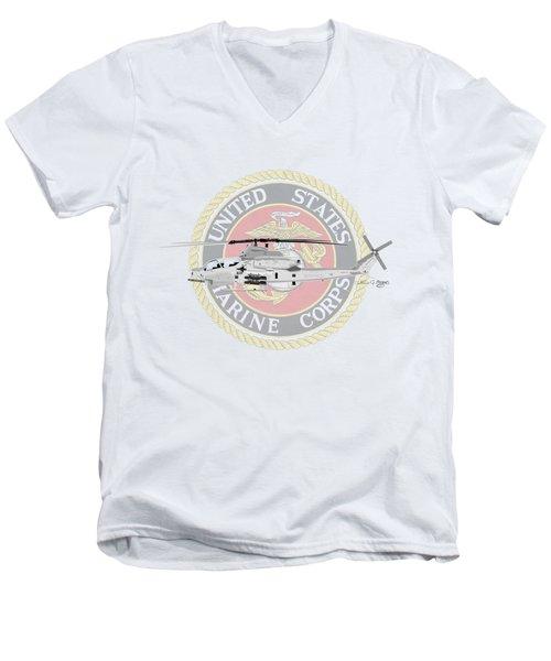 Ah-1z Viper Usmc Men's V-Neck T-Shirt by Arthur Eggers