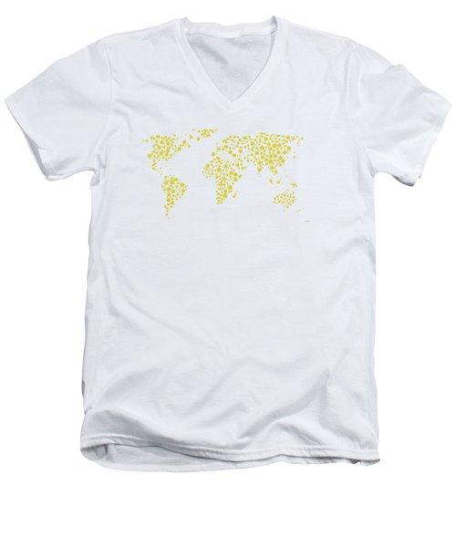 All The World Plays Tennis Men's V-Neck T-Shirt by Marlene Watson