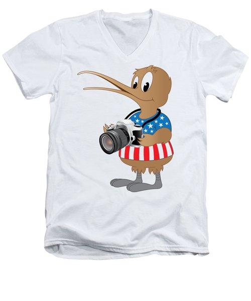 American Kiwi Photo Men's V-Neck T-Shirt by Mark Dodd