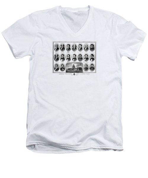 American Presidents First Hundred Years Men's V-Neck T-Shirt by War Is Hell Store