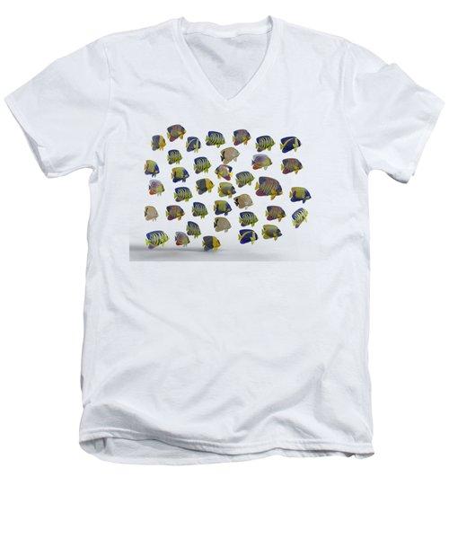 Angels Men's V-Neck T-Shirt by Betsy Knapp