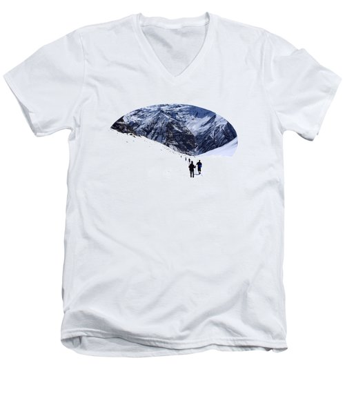 Annapurna Sanctuary Men's V-Neck T-Shirt by Aidan Moran