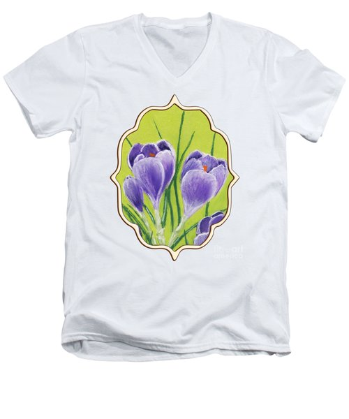 Crocus Men's V-Neck T-Shirt by Anastasiya Malakhova