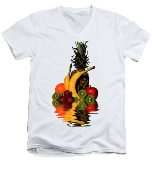 Fruity Reflections - Light Men's V-Neck T-Shirt by Shane Bechler