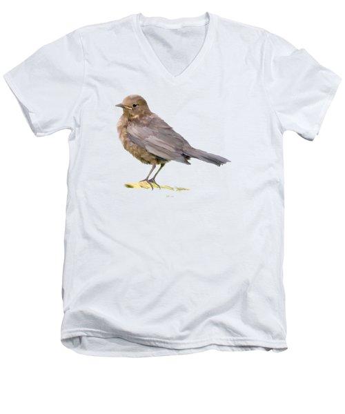 Young Blackbird  Men's V-Neck T-Shirt by Bamalam  Photography