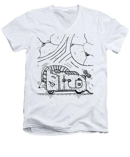 Moto Mouse Men's V-Neck T-Shirt by Erki Schotter