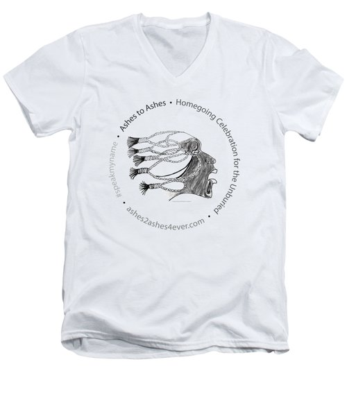 Ashes To Ashes Speak My Name Seal Men's V-Neck T-Shirt by Shirley Whitaker