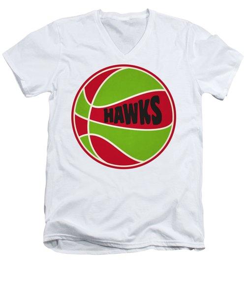 Atlanta Hawks Retro Shirt Men's V-Neck T-Shirt by Joe Hamilton
