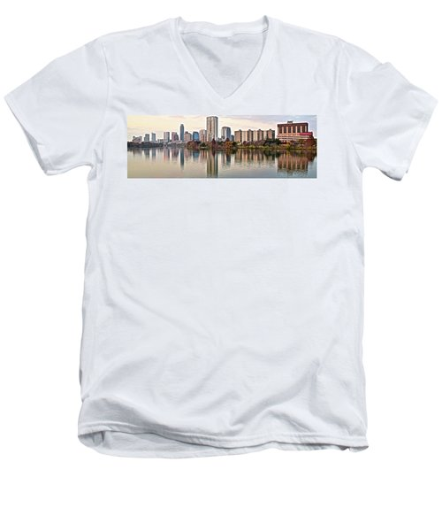 Austin Wide Shot Men's V-Neck T-Shirt by Frozen in Time Fine Art Photography
