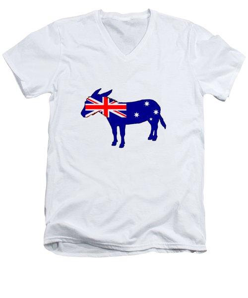 Australian Flag - Donkey Men's V-Neck T-Shirt by Mordax Furittus