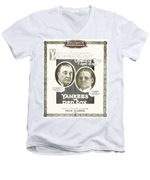 Baseball Program, 1923 Men's V-Neck T-Shirt by Granger