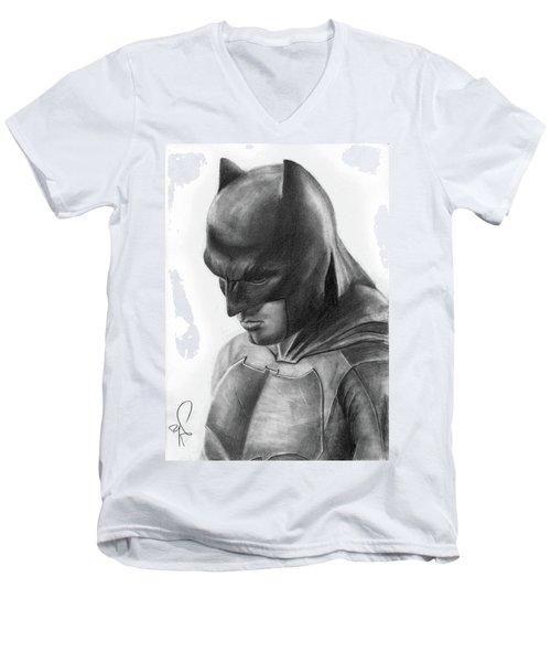 Batman Men's V-Neck T-Shirt by Artistyf