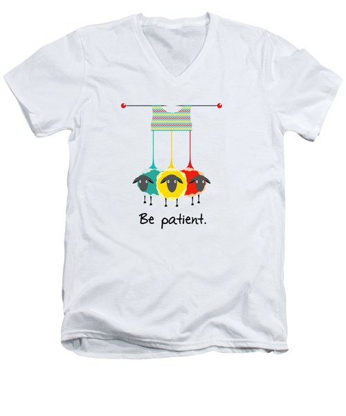 Be Patient Men's V-Neck T-Shirt by Susan Eileen Evans