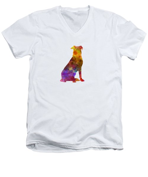 Beauceron In Watercolor Men's V-Neck T-Shirt by Pablo Romero