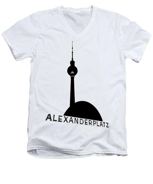 Berlin Alexanderplatz Men's V-Neck T-Shirt by Julie Woodhouse