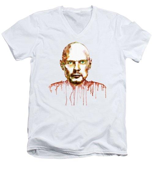 Billy Corgan Men's V-Neck T-Shirt by Marian Voicu