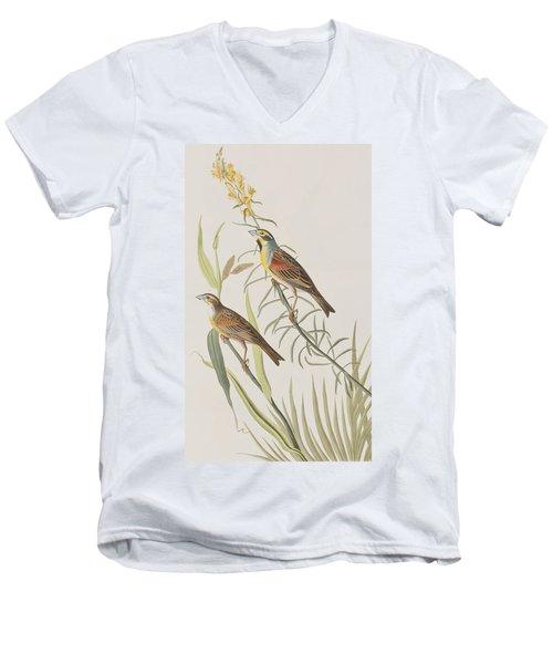 Black-throated Bunting Men's V-Neck T-Shirt by John James Audubon