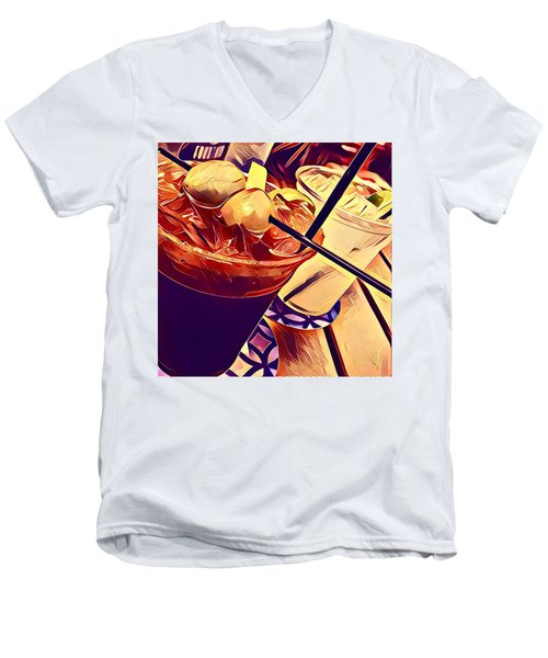 Bloody Mary And Moscow Mule Men's V-Neck T-Shirt by Frush Photos