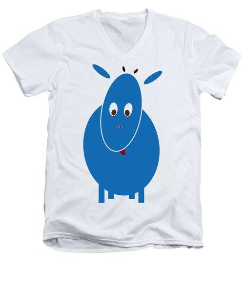 Blue Bestia Men's V-Neck T-Shirt by Frank Tschakert