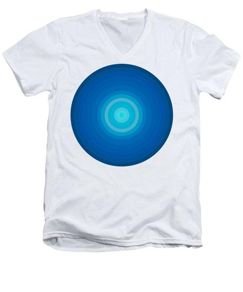 Blue Circles Men's V-Neck T-Shirt by Frank Tschakert