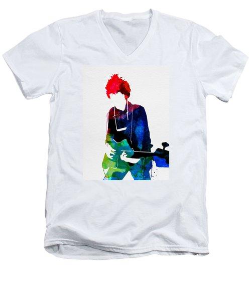 Bob Watercolor Men's V-Neck T-Shirt by Naxart Studio